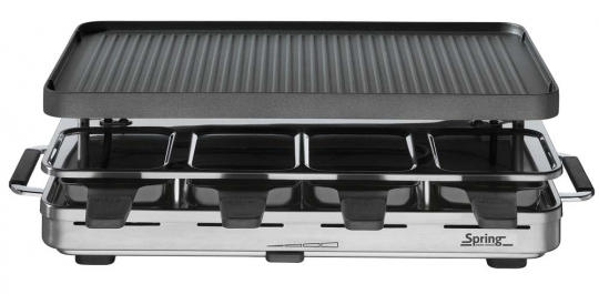 Spring Raclette 8 Raclette Inox mit Alugrillplatte EU