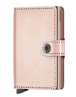 Secrid Miniwallet Metallic Rose Cardprotector Silber