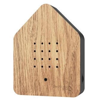 Zwitscherbox Holz Eiche/schwarz
