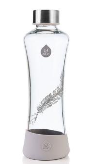 Equa Trinkflasche 550 ml Esprit Feather aus Borosilikatglas, Silikon