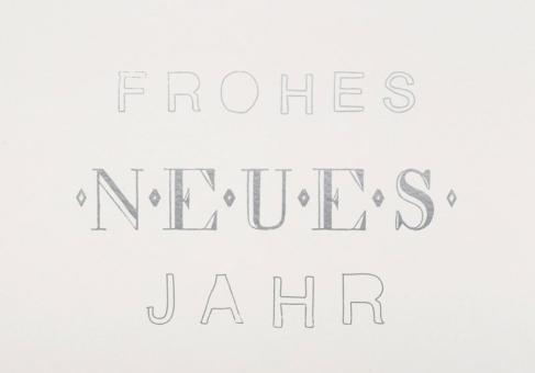 Räder Silvester Postkarte Frohes neues Jahr
