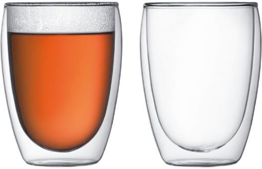 Bodum Pavina Glas Doppelwandig 0,45 L 2 Stk. Transparent