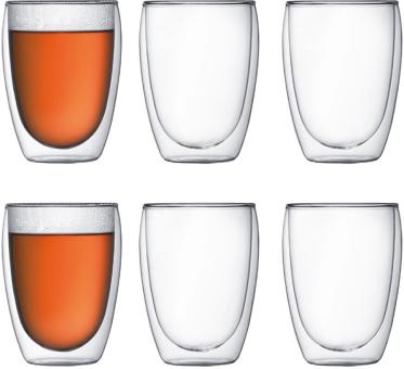 Bodum Pavina Glas Doppelwandig 0,35 L 6 Stk. Transparent