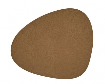 Lind DNA Table Mat Curve S Hippo Brown
