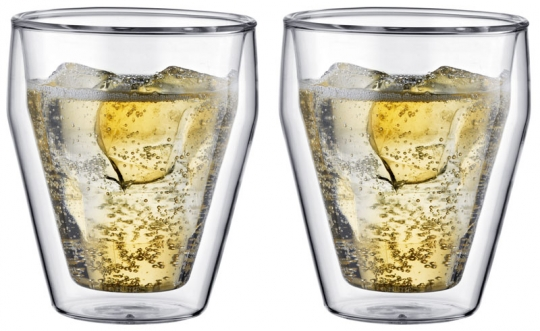 Bodum Titlis Glas Doppelwandig 0,25 L Stapelbar 2er Set