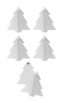 Hutschenreuther Little Christmastown Metall Baum 12er Set Geschenkanhänger