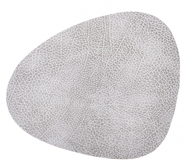 Lind DNA Table Mat Curve S Hippo White-Grey