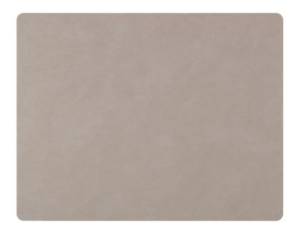 Lind DNA Table Mat Square L Nupo Light Grey