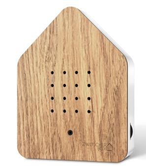 Zwitscherbox Holz Eiche weiß