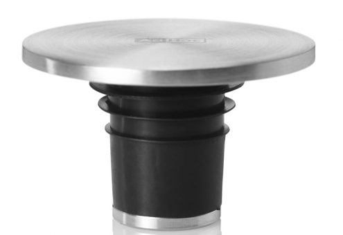 AdHoc Flaschenverschluss Champ Edelstahl/Silikon Ø 4,5 cm, H 3 cm