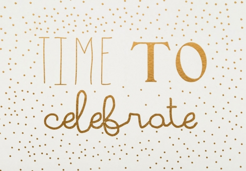 Räder Silvester Postkarte Time to celebrate