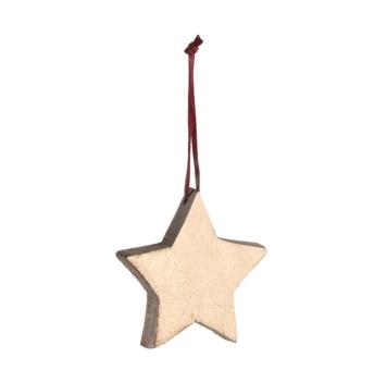 Leonardo Rosso Mangoholzhänger 6 cm Stern