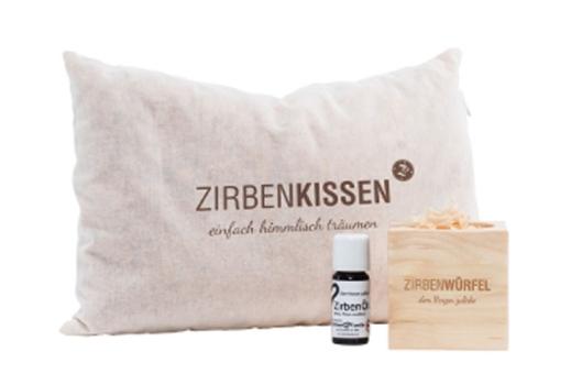 ZirbenFamilie Original ZirbenKissen 25x15 cm+Zirbenspray 20 ml