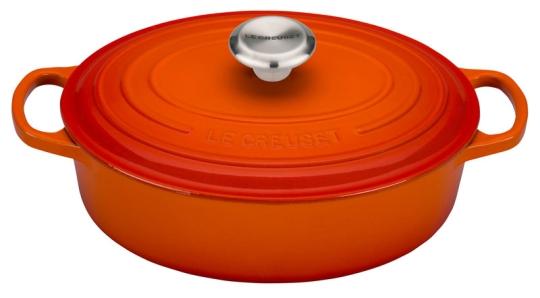 Le Creuset Gourmet-Bräter Oval Signature 27 cm Ofenrot