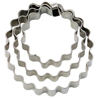 Städter Terrassen-Ausstecher Ring Gewellt Klein 3-tlg. 3/4/5 cm