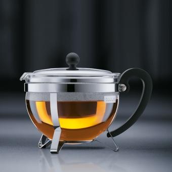 Bodum Chambord Teebereiter mit Edelstahlfilter und Edelstahldeckel 1 L