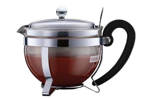 Bodum Teebereiter mit Edelstahlfilter 0,5 L Chambord verchromt