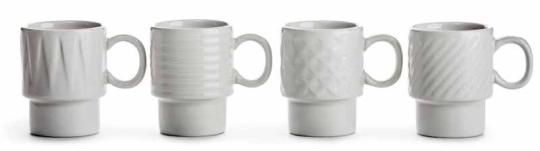 Sagaform Coffee & More Espressobecher weiß 4er Set
