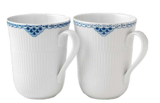 Royal Copenhagen Prinzess Becher 33 cl 2er Set