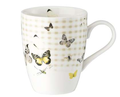 Hutschenreuther Lots of Stripes Becher mit Henkel Butterfly