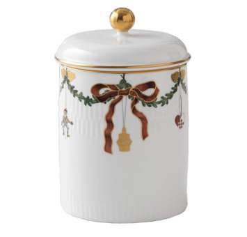Royal Copenhagen Starfluted Christmas Jar with Lid