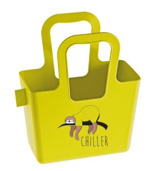 Koziol Taschelini Chiller Tasche mit Druck solid senfgrün