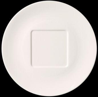 Dibbern Pure Teller flach 32 cm Quarree Weiss