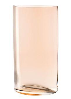 Leonardo Centro Vase 34 cm Halbkreis Zimt