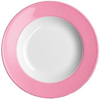 Dibbern Solid Color Pink Teller tief 23 cm Fahne