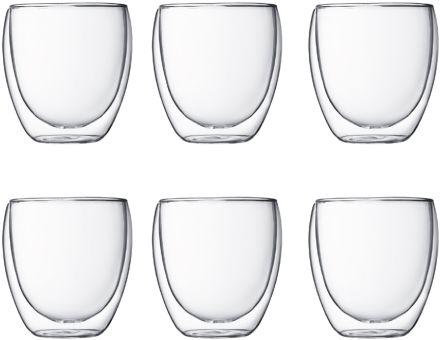Bodum Pavina Glas Doppelwandig 0,25 L 6 Stk. Transparent