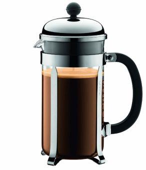 Bodum Chambord Kaffeebereiter 8 Tassen 1L silber glänzend