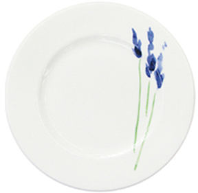 Dibbern Impression Teller flach 21 cm Blume Blau