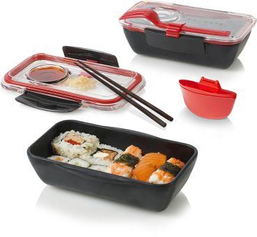 Black & Blum Bento Box Black/ Red