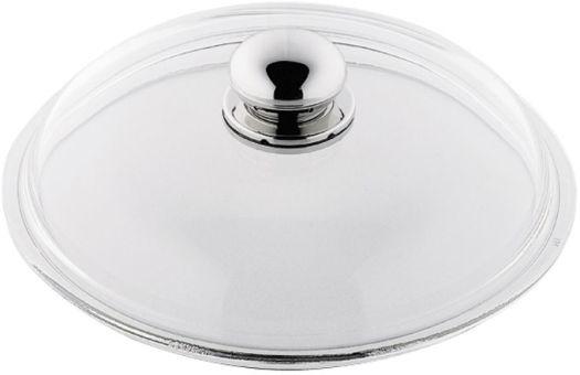 Silit Glas Deckel 28 cm mit Metallknauf