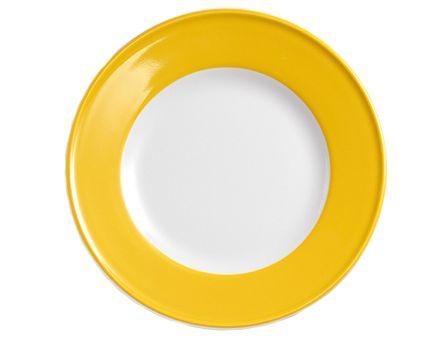 Dibbern Solid Color Sonnengelb Teller flach 19 cm Fahne