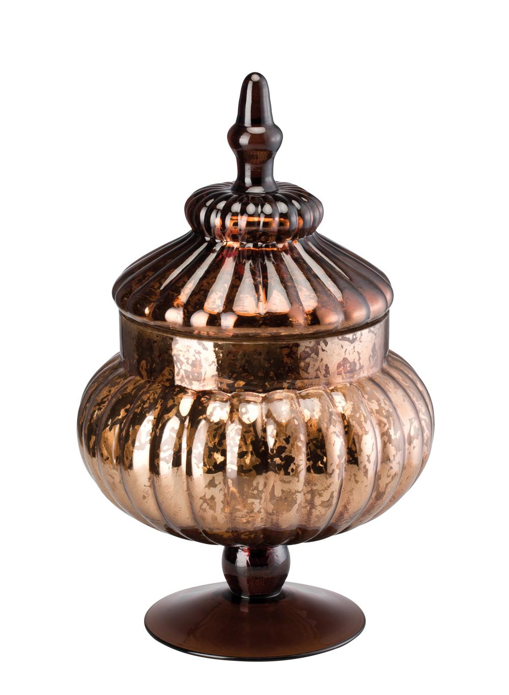 Hutschenreuther Winterromantik Glas Braun Pokal Mit Deckel