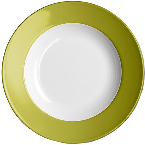 dibbern solid color oliv teller tief 23 cm fahne 2005500043. Black Bedroom Furniture Sets. Home Design Ideas