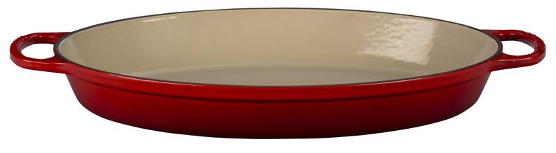 le creuset auflaufform signature oval 36 cm kirschrot. Black Bedroom Furniture Sets. Home Design Ideas