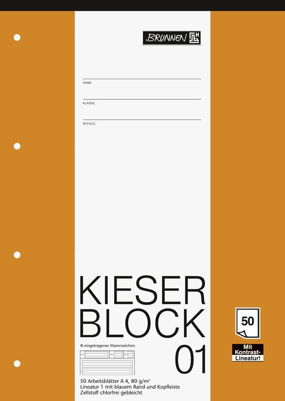 Brunnen Block A4 Kieserblock Lineatur 1 50 Blatt   Fachhändler ...