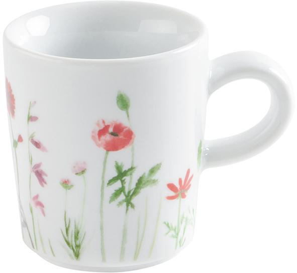kahla magic grip five senses wildblume espresso obertasse 0 09 l rot gelb. Black Bedroom Furniture Sets. Home Design Ideas