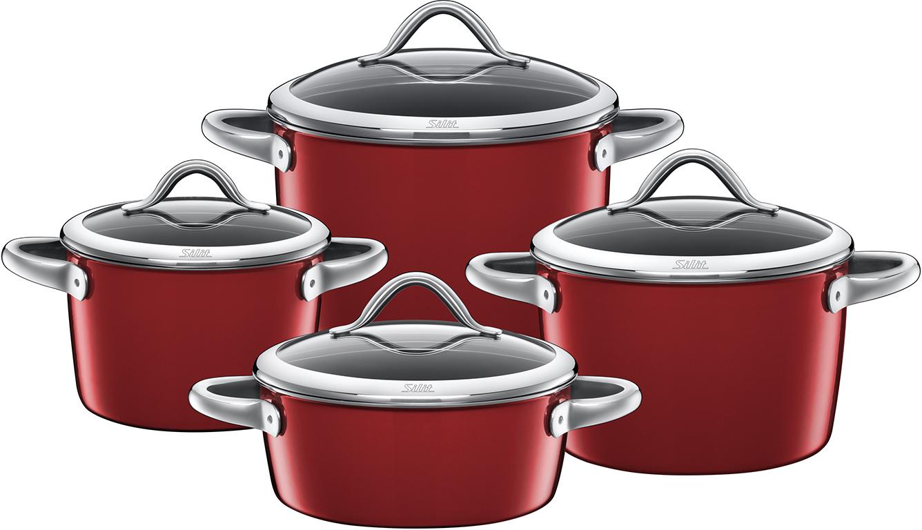 silit vitaliano rosso topf set 4 tlg vitaliano rosso. Black Bedroom Furniture Sets. Home Design Ideas