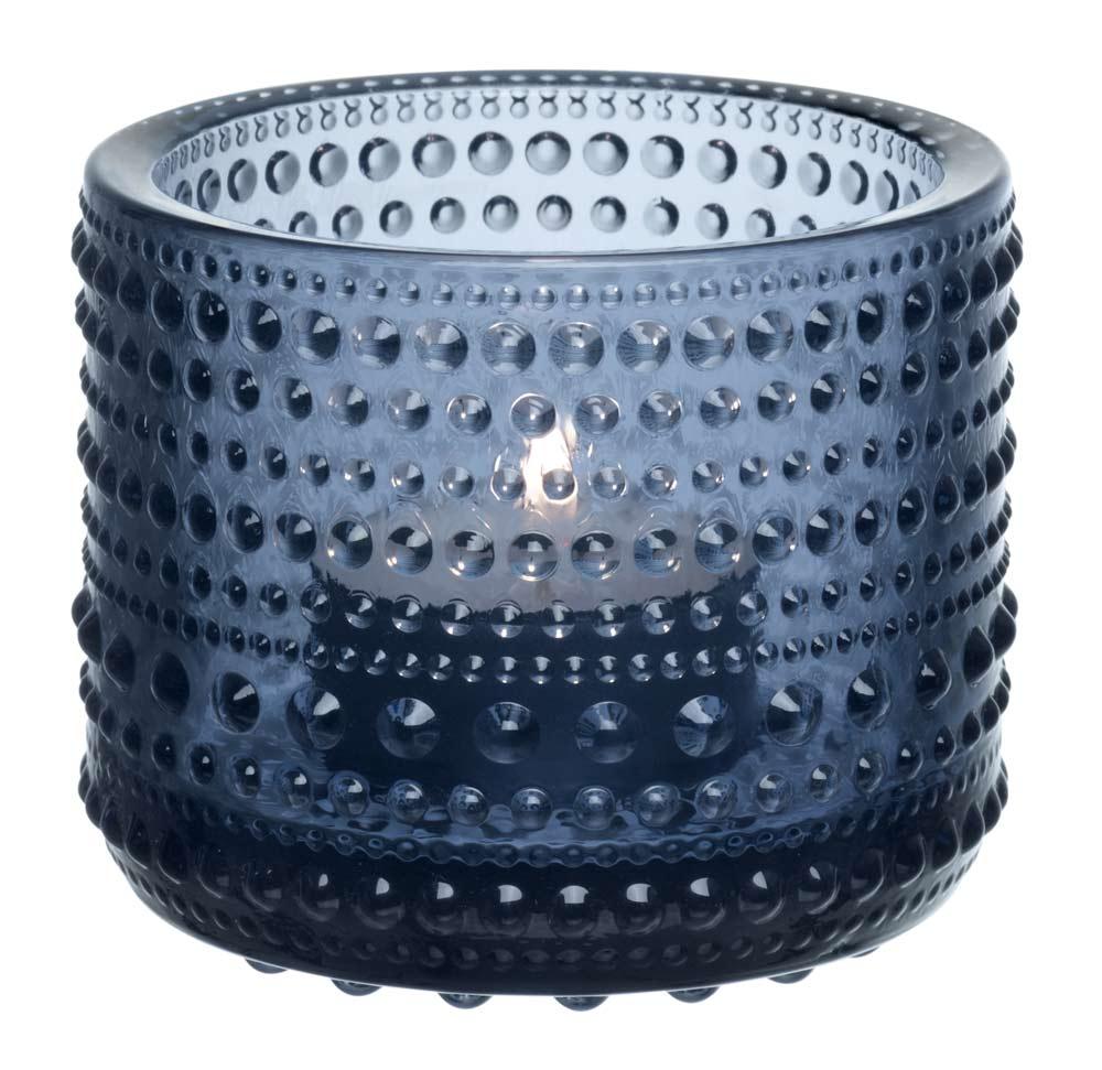 iittala kastehelmi windlicht 64 mm regenblau 1007839. Black Bedroom Furniture Sets. Home Design Ideas