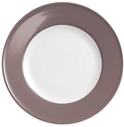 dibbern solid color umbra teller flach 19 cm fahne fachh ndler tritschler stuttgart. Black Bedroom Furniture Sets. Home Design Ideas