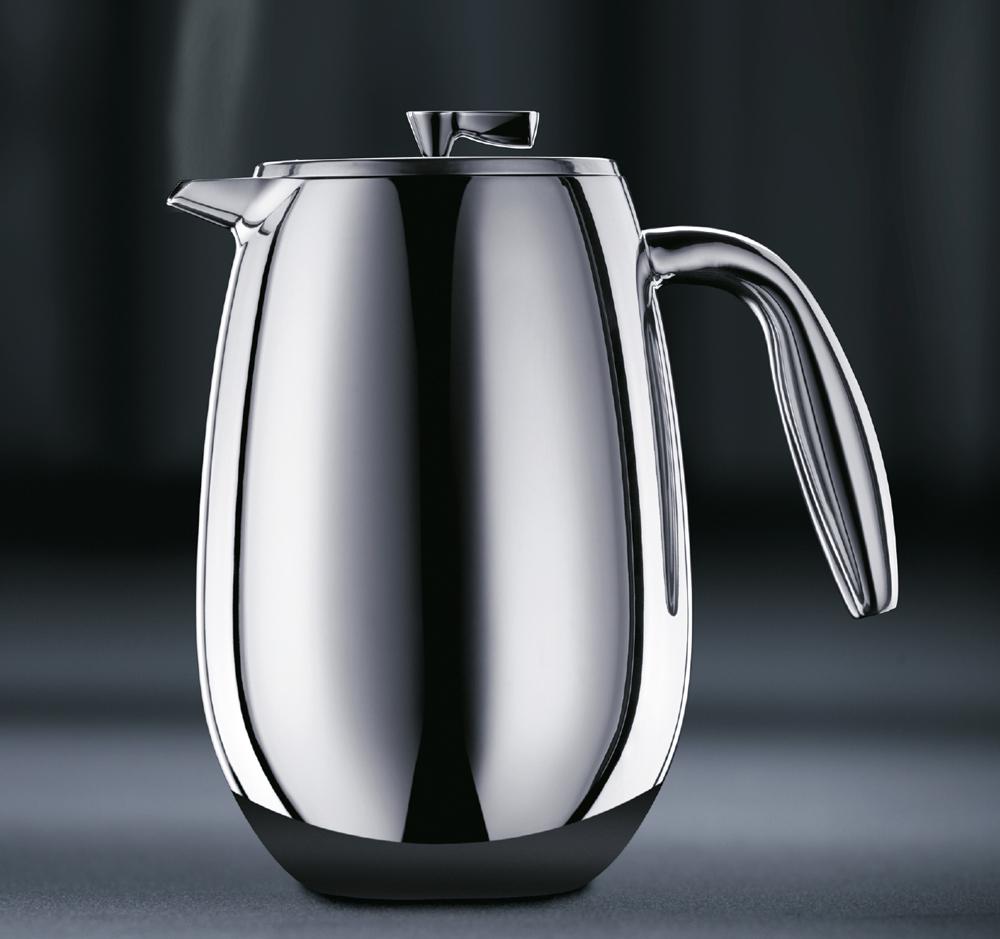 bodum columbia kaffeebereiter doppelwandig 8 tassen 1 l edelstahl matt 1308 57. Black Bedroom Furniture Sets. Home Design Ideas