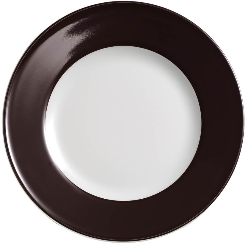 dibbern solid color kaffeebraun teller flach 19 cm fahne 2001900048. Black Bedroom Furniture Sets. Home Design Ideas
